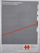7/1987 PUB CRYPTO AG HAGELIN TELECOPIAS CONFIDENCIALES ORIGINAL SPANISH AD