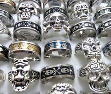 100 Skull Stainless steel + Alloy rings Men Women Ring Biker Wholesale Jewelry