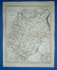 Antique 1829 Dr Butler's Atlas Map ~ RUSSIA ~ Authentic Sidney Hall