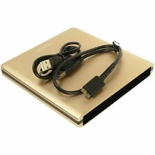 Pawtec USB 3.0 Aluminum Slim Enclosure SATA Optical Blu-Ray DVD-RW Drive (Gold)