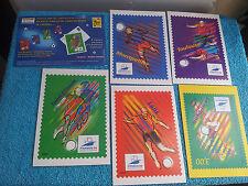 4 Carte Postales Coup  Monde 1998 La Poste Pré Timbrées.St Etienne Lens Toulouse