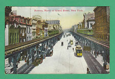 RARE  AMERICAN  POSTCARD  -  BOWERY, NORTH OF GRAND STREET, NEW  YORK  -  C 1910