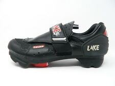 Lake Mens Cycling Shoes Black Red Road Bike Biking CX125 Size 6.5 W/ Clip