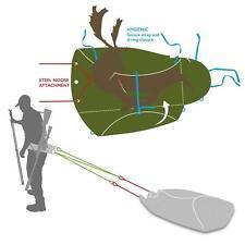 Napier Apex Ready Sled Bag Deer Sack Stalking Shooting 2X FREE GAMBRELS (£19.98)