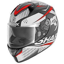 SHARK RIDILL STRATOM RED/WHITE FULL FACE MOTORCYCLE HELMET MEDIUM HE0543E/KWR