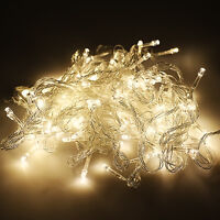 Warm White Christmas Lights Wedding Xmas Party Decor Outdoor Fairy Lamp Home Dec