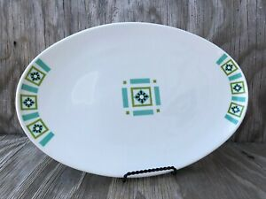 Bombay Green Ben Seibel Iroquois Large Serving Platter True China Made In U.S.A.