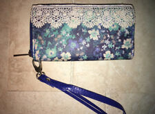Women's / Girls Claire's Brand Floral Wallet / Wristlet With Lacy Trim On 1 Side