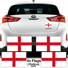 4x England Flag Car Van Stickers Decal Support Football Graphics Euro Cup 2016