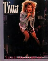 TINA TURNER 1985 PRIVATE DANCER WORLD TOUR CONCERT PROGRAM BOOK / EX 2 NEAR MINT