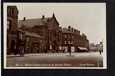 Long Eaton - Mount Tabor Church & Market Place  - real photographic postcard