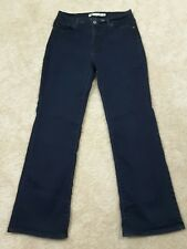 Levis~Women's Size 8P~Perfectly Slimming 512 Boot Cut Jeans  Dark Wash  Stretch.