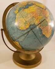 "Vintage 1950's Mid Century Cram's Imperial 12"" Rotating Terrestrial World Globe"