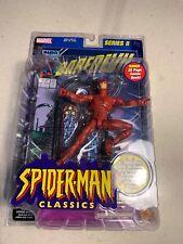 Marvel Legends Spider-Man Classics Series II Daredevil w Comic Book Toy-Biz 2001