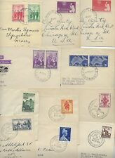 Australia 1950s Collection Of 20 Diff Fdcs All W/Color Cachets Including Christm