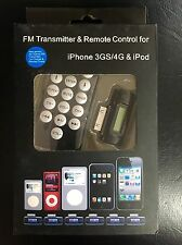 FM Transmitter and Remote Control for iPhone 3GS/4G and iPod