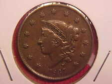 1837 LARGE CENT - XF - SEE PICS! - (X368)