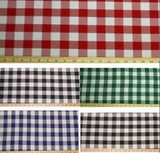 "Yellow gingham  check fabric approx 42/"" by 20/"""