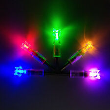 6pcs Crossbow Bolts Lighted Nock Automatically Archery Hunting 7.6mm Led Nock