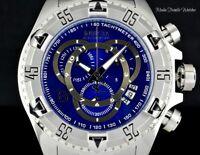 Invicta RESERVE 52MM Excursion BlueDial Quartz Chronograph Silver Bracelet Watch