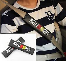 2x Carbon Fiber Auto Car Seat Belt Cover Pads Shoulder Cushion fit for RALLI ART