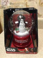Star Wars Christmas Musical Snowglobe NEW Darth Vader Stormtrooper Snowman Gemmy