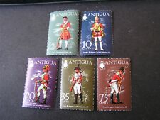 ANTIGUA, SCOTT # 274-278(5) 1-COMPLETE SET 1971 UNIFORM TYPE ISSUE MVLH