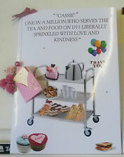 LARGE PERSONALISED 'THANK YOU TEA LADY/NHS CARER - YOUR OWN WORDING
