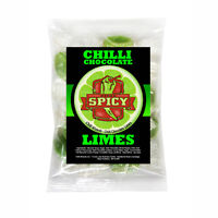 Ghost Pepper Chilli Chocolate Limes - Chilli Lime Boiled Sweets 100g New Product