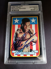 Mike Tyson Auto Autographed Trading Card PSA RARE YOUNG AGE Signed
