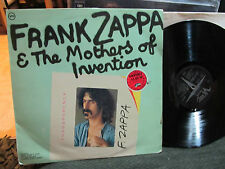 FRANK ZAPPA & THE MOTHERS of invention TRANSPARENCY LP verve uk oop vinyl rare!
