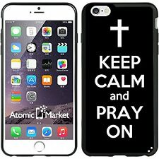 Black Keep Calm and Pray On For Iphone 6 Plus 5.5 Inch Case Cover