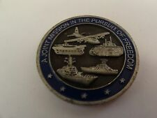 CHALLENGE COIN GLOBAL WAR ON TERRORISM DEFENDING FREEDOM JOINT MISSION PURSUIT