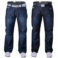 Men's Smith and Jones Designer Straight Leg Regular Fit Relaxed Denim Jeans