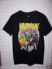 The Big Bang Theory Bazinga Characters Superheroes Men's Shirt Size M T-Shirt