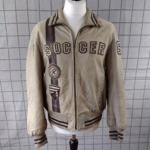 Vintage Redskins Soccer 84 Bomber Varsity Leather Jacket XL