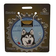 Siberian Husky dog coaster magnet bottle opener Bottle Ninjas
