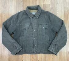 Vintage 90s ARMANI JEANS Mens TRUCKER Jacket | MADE IN ITALY | Large GB42 Brown