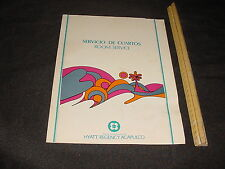 Vintage MENU 14 page Room service HYATT REGENCY ACAPULCO Mexica Prices in Pesos