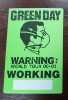 Green Day - Warning: World Tour 2000-2001 - VIP / Working Pass - unbenutzt -