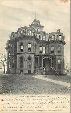 c1906 Lithograph Postcard Battin High School, Elizabeth NJ Union County Posted