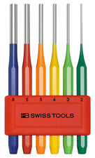 PB Swiss Tools PB 755.BL RB Parallel Pin Punch Set Octagonal Shaft Rainbow 6pc