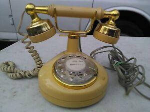 2pcs Retro Metal Rotary Dial Telephone 1//12 Dollhouse Miniature Accessories