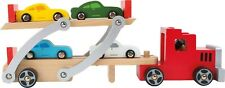 Pequeño pie Legler 4222 transportador de coche de Madera, Madera Juguete de Madera para Niños Niño