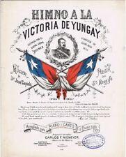 Himo A La Victoria De Yungay, antique 19th century sheet music