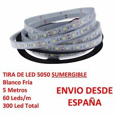 Tira de Led 5050 SUMERGIBLE Blanco Frio Waterproof 5m 60 Leds/m strip