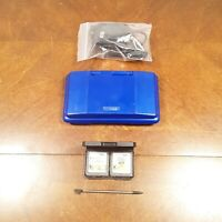 Blue Nintendo DS NTR-001 with Charger W/2 GAMES AND STYLUS TESTED FAST SHIPPING