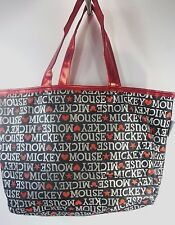 Authentic Disney Parks Mickey Mouse Reversible Tote Shiny Red