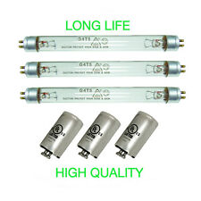 3 UV BULBS AND 3 STARTERS FOR FRESH AIR BY ECOQUEST PURIFIER
