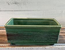 Vintage Mid Century McCoy Pottery Glazed Green Planter